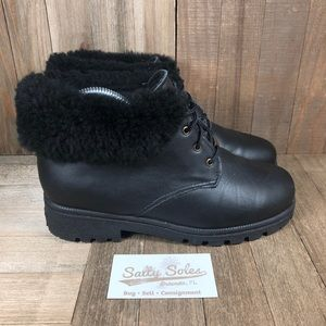 Vintage Sorel Leather Shearling Boots Womens 8.5